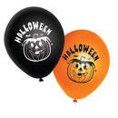 Halloween balloner sorte og orange 10 stk.
