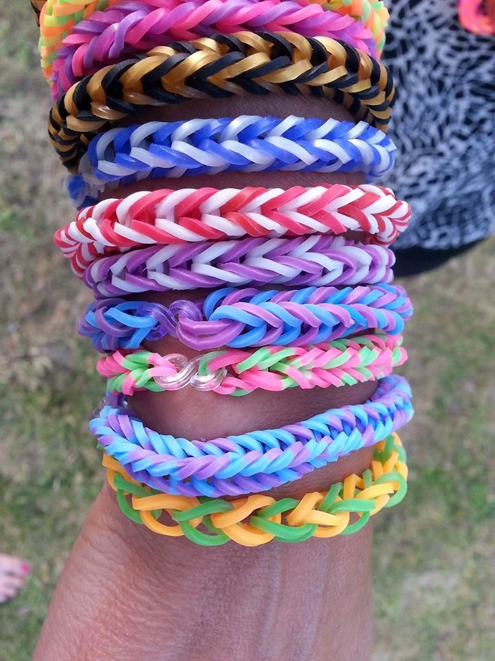 Loom bands på arm