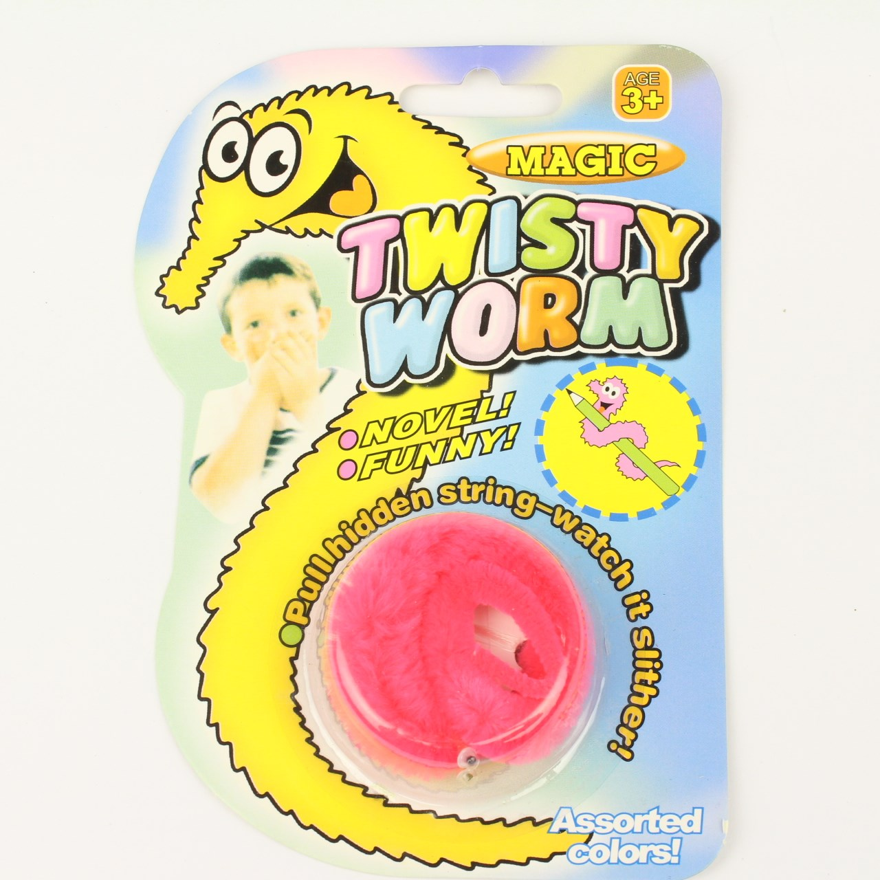pink twisty worm